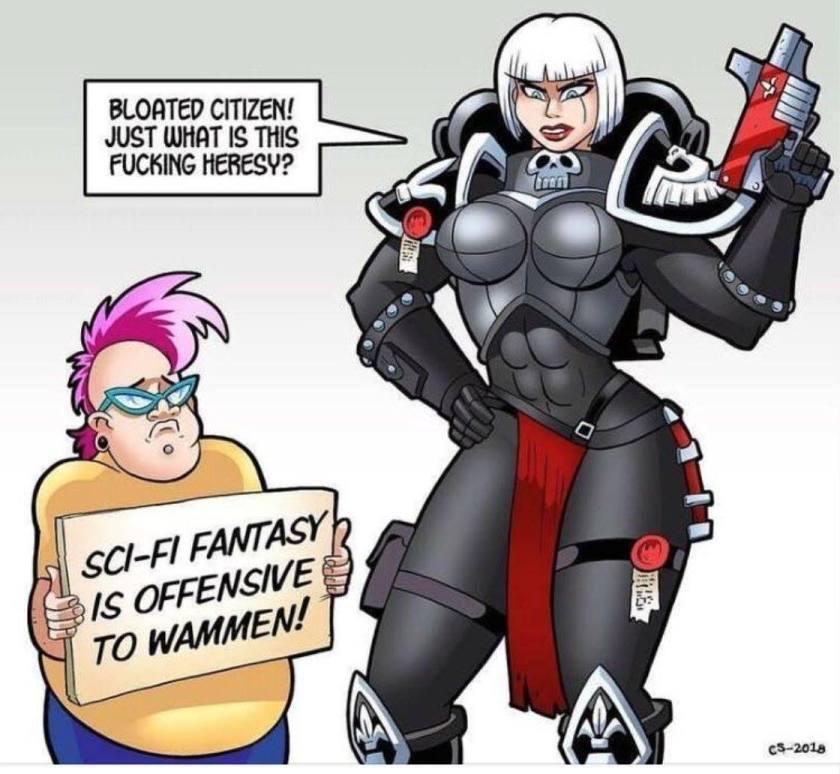 Heresy offensive women