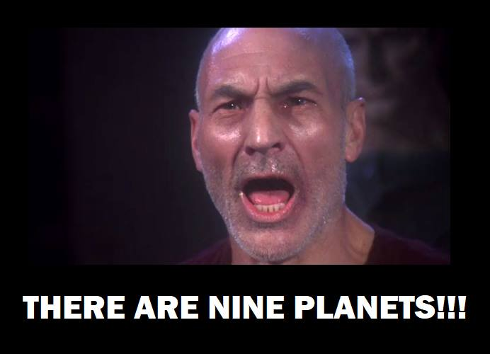 there are nine planets